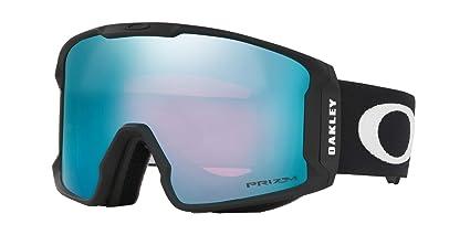 4592bbf955 Oakley Line Miner Adult Snowmobile Goggles - Matte Black Prizm Sapphire  Iridium Medium