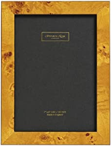 Addison Ross, Poplar Wood Veneer Photo Frame, 4x6, Honey Fiber Back, 4 x 6 Inches