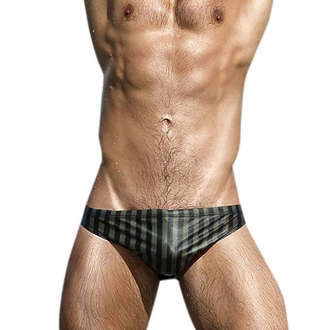 08783f9f167fbb YiYLunneo Costume da Bagno Slip da Uomo, Moda Mare Pantaloni Traspiranti  Pantaloni da Spiaggia Stampa Running Biancheria Intima da Bagno: Amazon.it:  ...