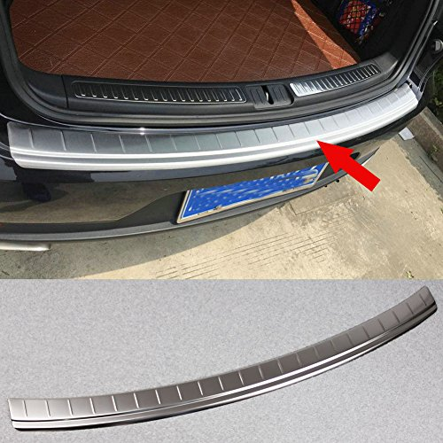 (Generic Stainless Steel Rear Bumper Sill Plate Guard Cover Trim Fit For Porsche Macan 2016 2017)