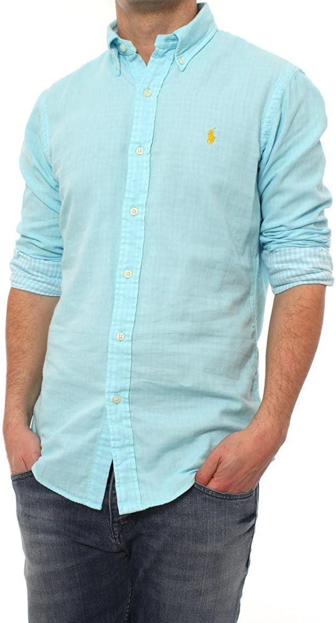 Camisa Ralph Lauren Turquesa M Turquesa: Amazon.es: Ropa y accesorios