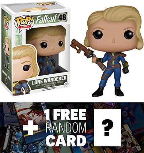 Lone Wanderer (Female): Funko POP! x Fallout Vinyl Figure + 1 FREE Video Games Themed Trading Card Bundle [58494]