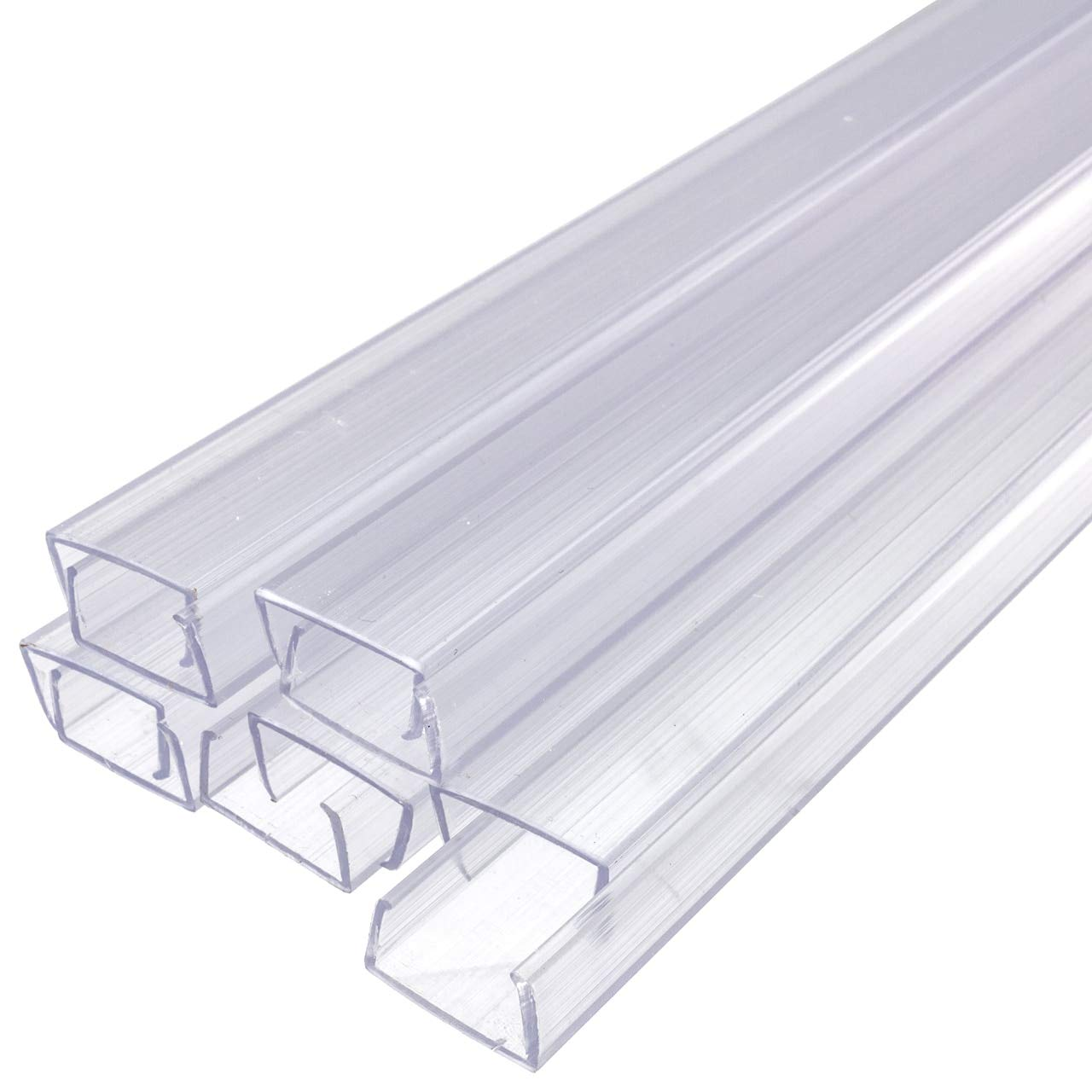 Brilliant Brand Lighting 24 Inch x 3/8 Inch Rope Light Mounting Track - Clear PVC Channel (10 Pack) - 12/120 Volt