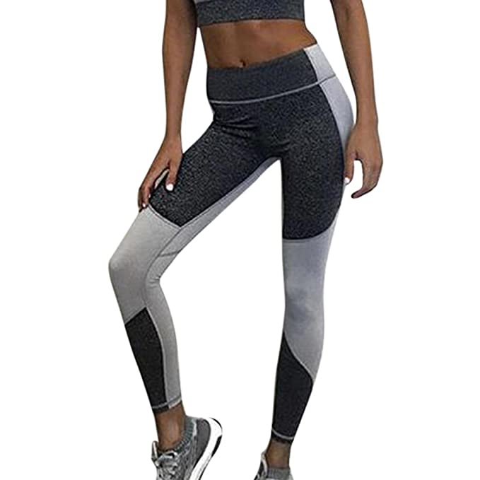 a837c8c62e4b4 WM & MW Clearance Yoga Pants, Women High Waist Patchwork Running Gym  Fitness Sports Leggings
