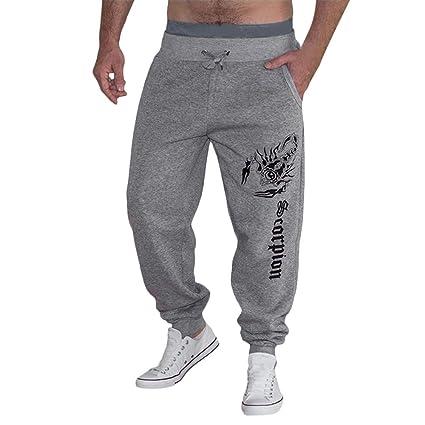 Amazon.com: Men Casual Pants Comfort Cotton Elastic Waist ...