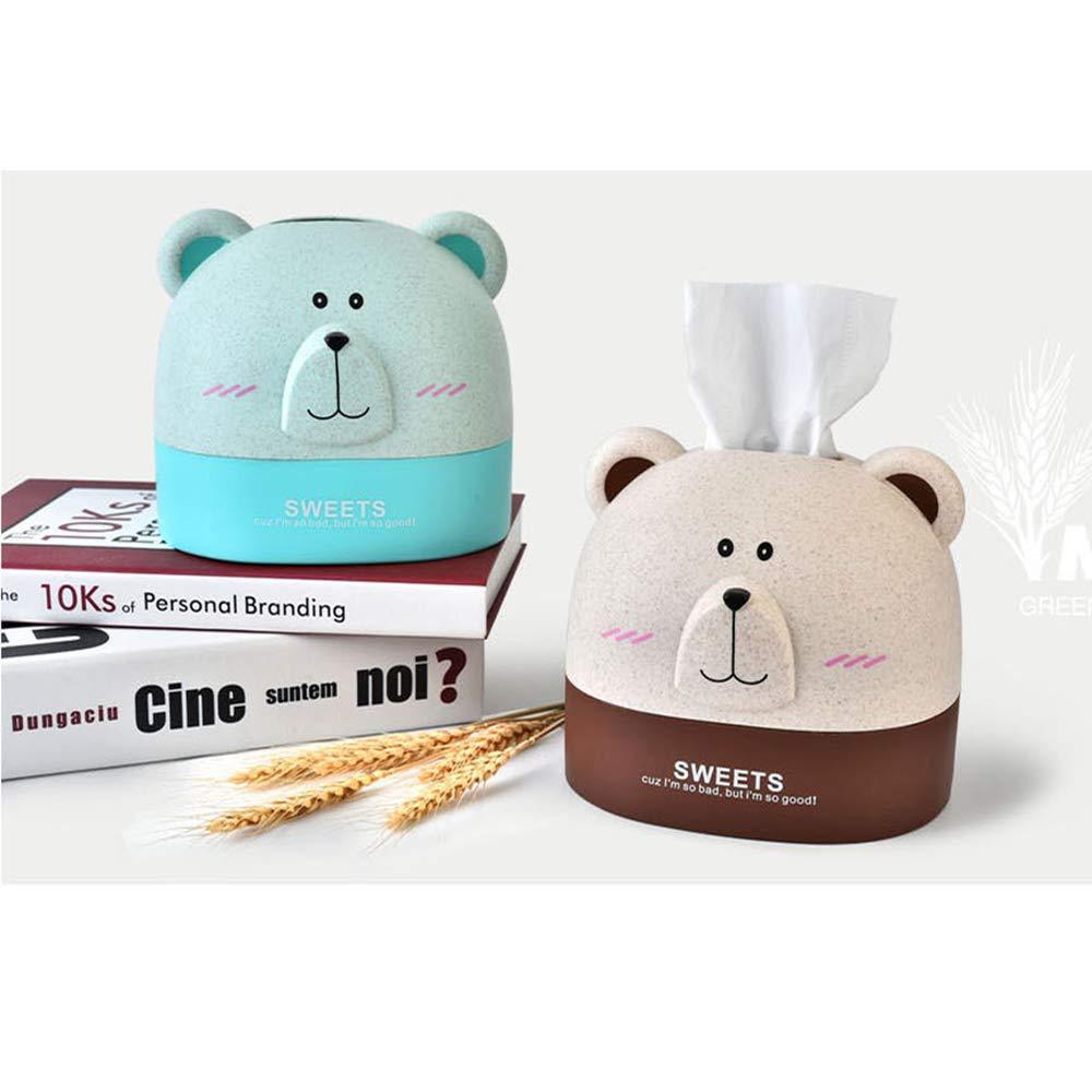 Aufbewahrungsbox Halter f/ür Zuhause Rose WANCR Taschentuchbox mit Eisb/är-Motiv Taschentuchbox Papierhandtuch f/ür den Schreibtisch