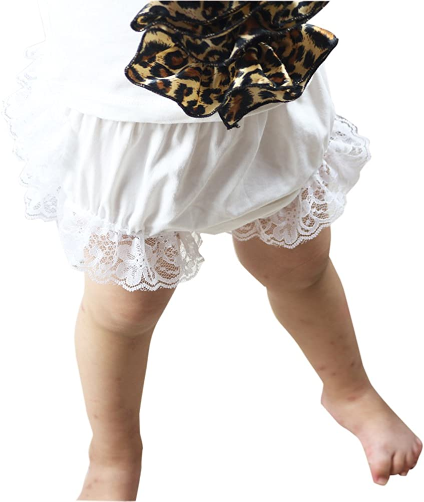 Wennikids Lace Ruffle Diaper Cover Bloomer and Headband Set for Baby Girls LC-RS-503