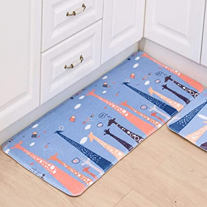 Redpol Practical Print Rectangle Shape Water Absorption Non-Slip Home Mat Bathroom Mat Puzzle Play Mats