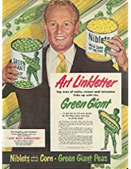Art Linkletter for Green Giant Peas and Niblets Corn ad 1950