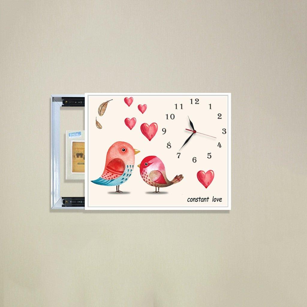 3Dアートサイレント防水絵画壁時計装飾的な背景クリエイティブアートマイクロフレームクリスタルクロックトリプルハンギング絵画の水平バージョン居間 (サイズ さいず : 50*70センチメートル) B07DFHQK8H50*70センチメートル