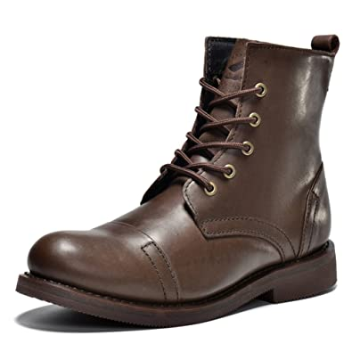Winter leather boots men's boots Martin/Tooling motorcycle boots short boots