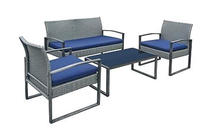 Amazon.com: Juego de muebles de patio para exteriores, sofá ...