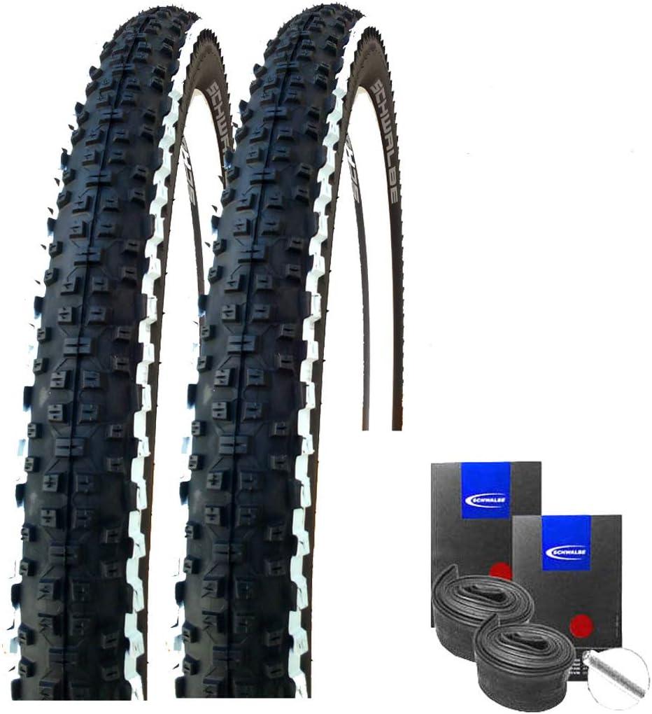"""schwarz-weiß 26x2,25/"""" 2 Stück Schwalbe Rapid Rob Fahrrad Reifen //// 57-559"""