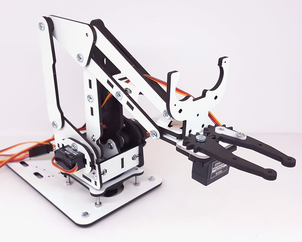 ArmUno 2.0 MeArm and Arduino Compatible DIY Robot Arm Kit With MeCon Motion Control Software and Arduino Source Code Via Download Link by MicroBotLabs (Image #4)