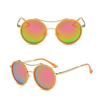 Bunte Farbe Sonnenbrille Retro Sonnenbrille Schwarzer Rahmen Pulver Quecksilber daYop
