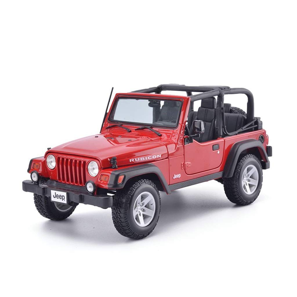 LIUFS-Alloy Car Jeep Wrangler Convertible Robin Hood Alloy Car Model 1:18 Children's Toys Adult Gifts ( Color : Red )