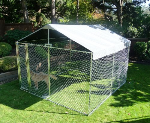 Weather guard extra large all season dog run cover roof for All weather dog kennels