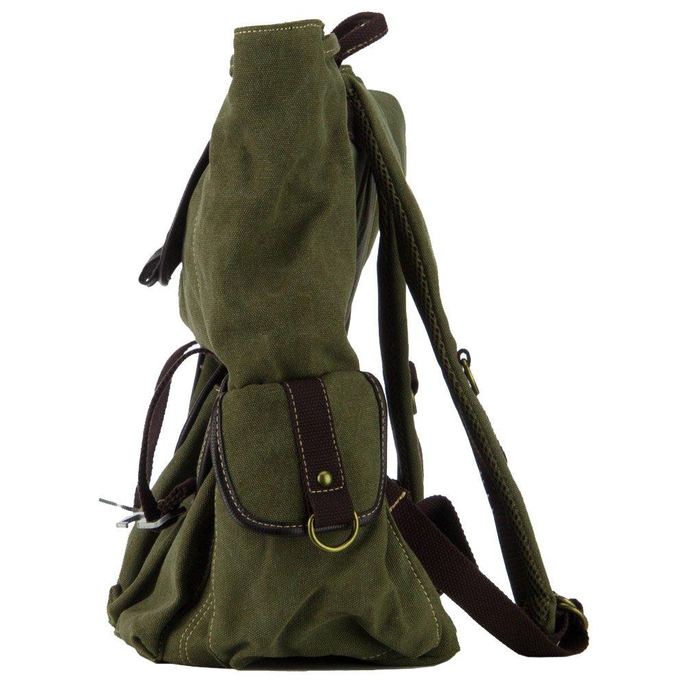 Pre Washed Canvas Backpack Olive