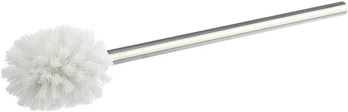 2 opinioni per Zeller 98011- Spazzolino WC acciaio Inox, ø 7,5 x 39,5 cm, colore: Bianco