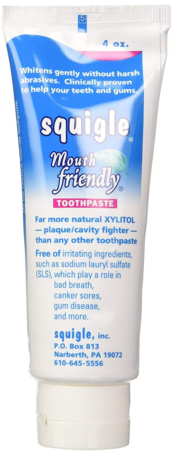 Squigle - Squigle Toothpaste,Peppermint,4 ounce (Pack of 2)