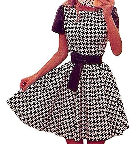 STEKOST Damen Skater Kleid