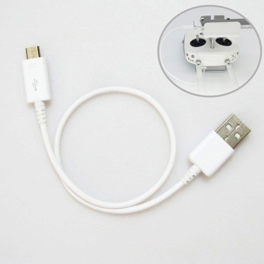 Cutogain Android USB Cable de Datos para dji Phantom 3/Phantom 4/Pro Inspire 1/Mando a Distancia