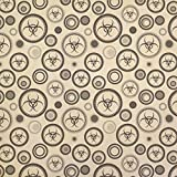 Biohazard Zombie Kraft Present Gift Wrap Wrapping Paper