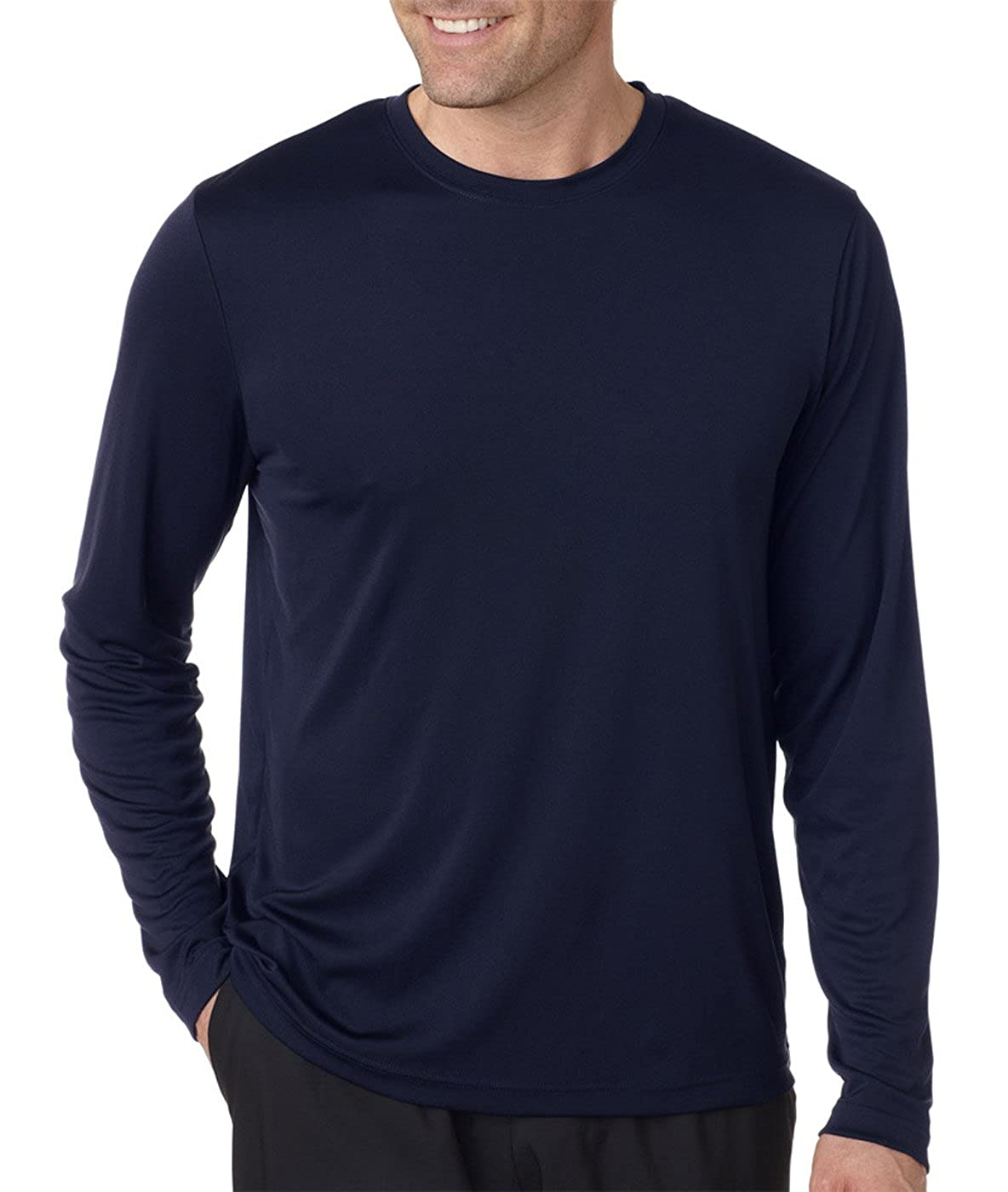Hanes Men's Long Sleeve Cool Dri T-Shirt UPF 50  (Pack of 2) at ...