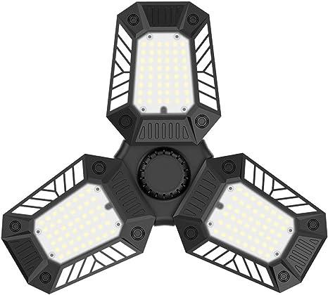 E27 LED Garage Light Bulb 6000LM High Bay Deformable Adjustable Workshop Lamps