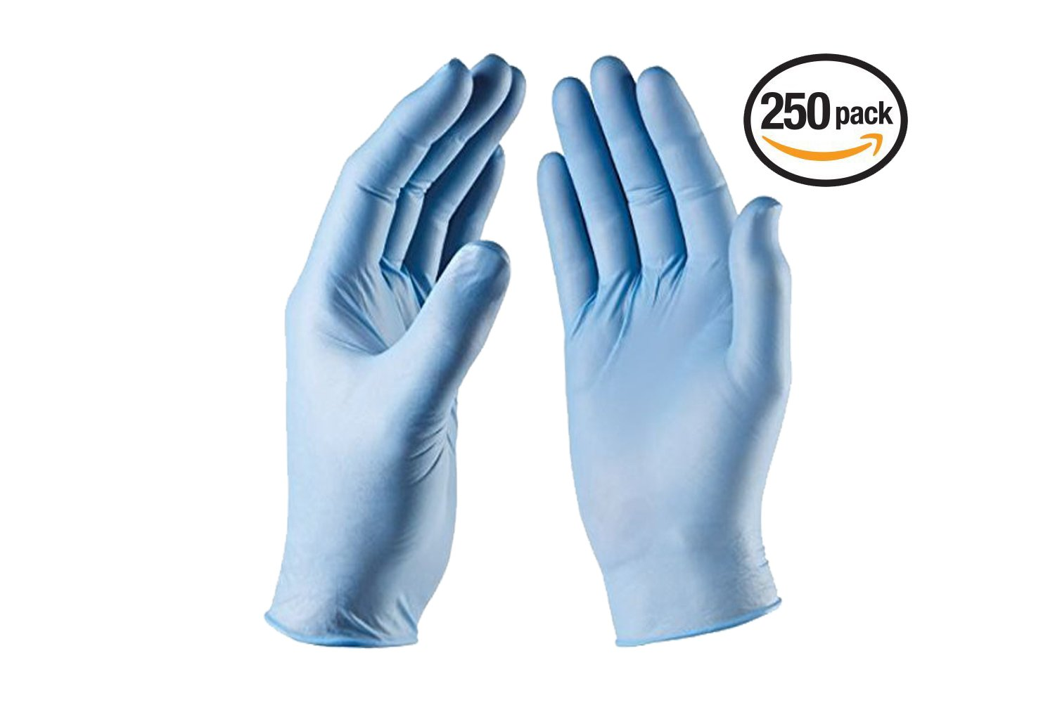 VIVID Nitrile Blue Medical Grade Non-Sterile Exam Gloves – Non-Latex, Powder, Rubber Free – For Dental, Medical, Food Handling, Automotive, Art, Craft, Home Use – 250 Count, Size Medium, BlueTouch