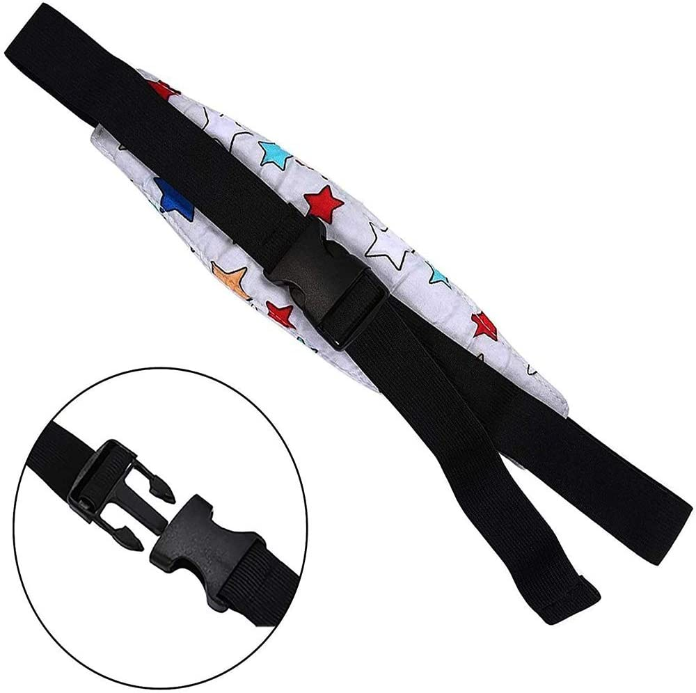 2 Pack Kids Safety Head Support Head Support and Neck Relief Baby Sleep Positioner Offers Protection and Safety for Kids Baby Car Seat Head Sleep Nap Aid Positioner Strap Belt