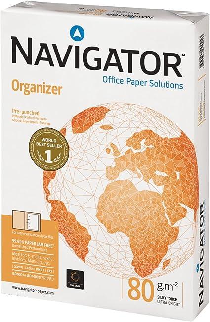 NAVIGATOR 377708 - Paquete de 500 hojas de papel A4, 80 gramos: Amazon.es: Oficina y papelería
