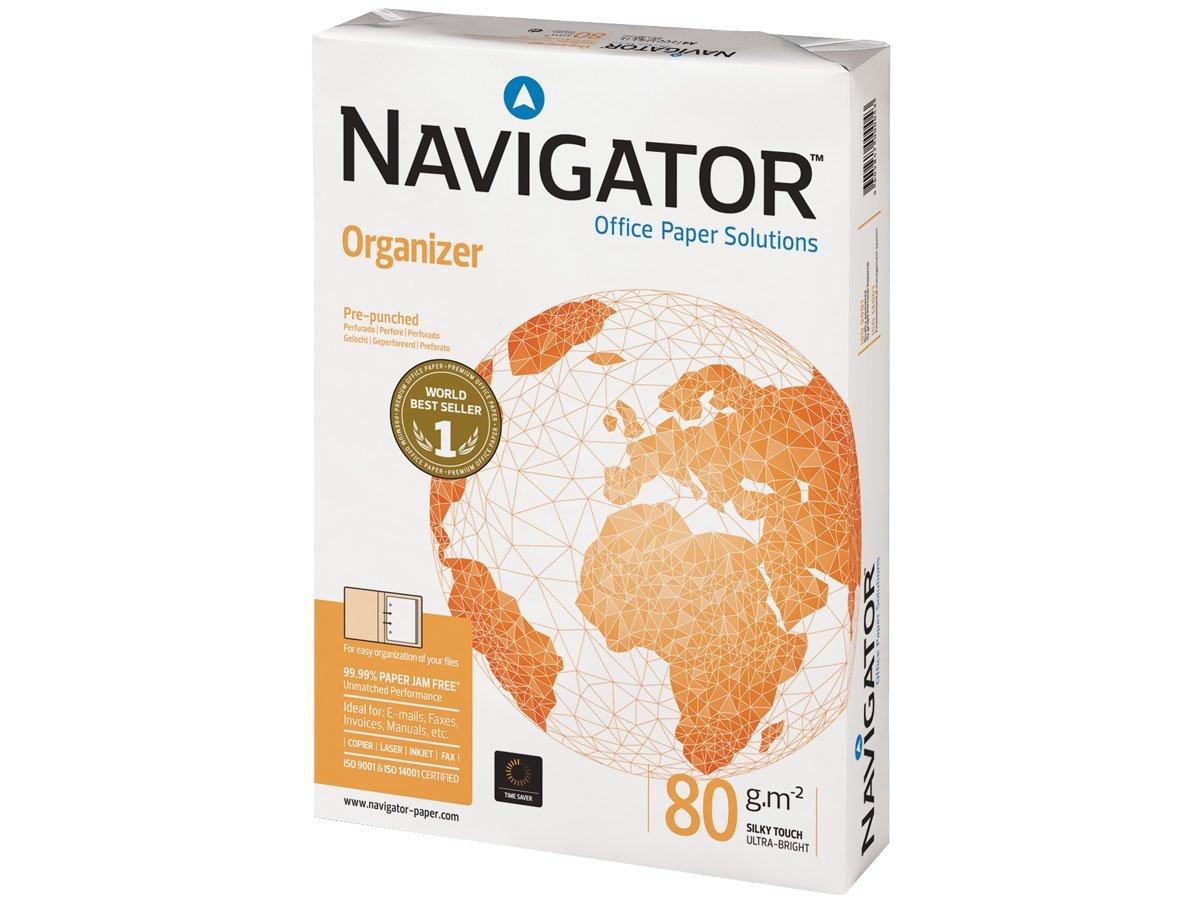 Navigator NOR0800095 Carta per Ufficio, A4, 4 Fori The Navigator Company 377708