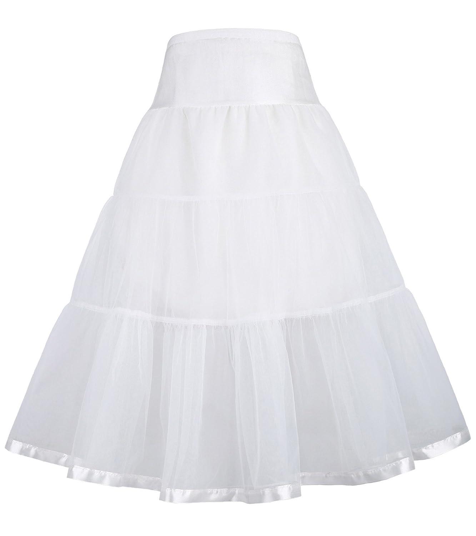 GRACE KARIN Little Girls Two Layers Voile Crinoline Tutu Petticoats Long/Short