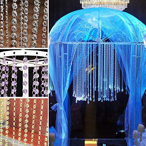 PROKTH Acrylic Crystal Rhinestone Bead Garland Curtain Chandelier Accessories Wedding Home Decoration DIY Accessories -