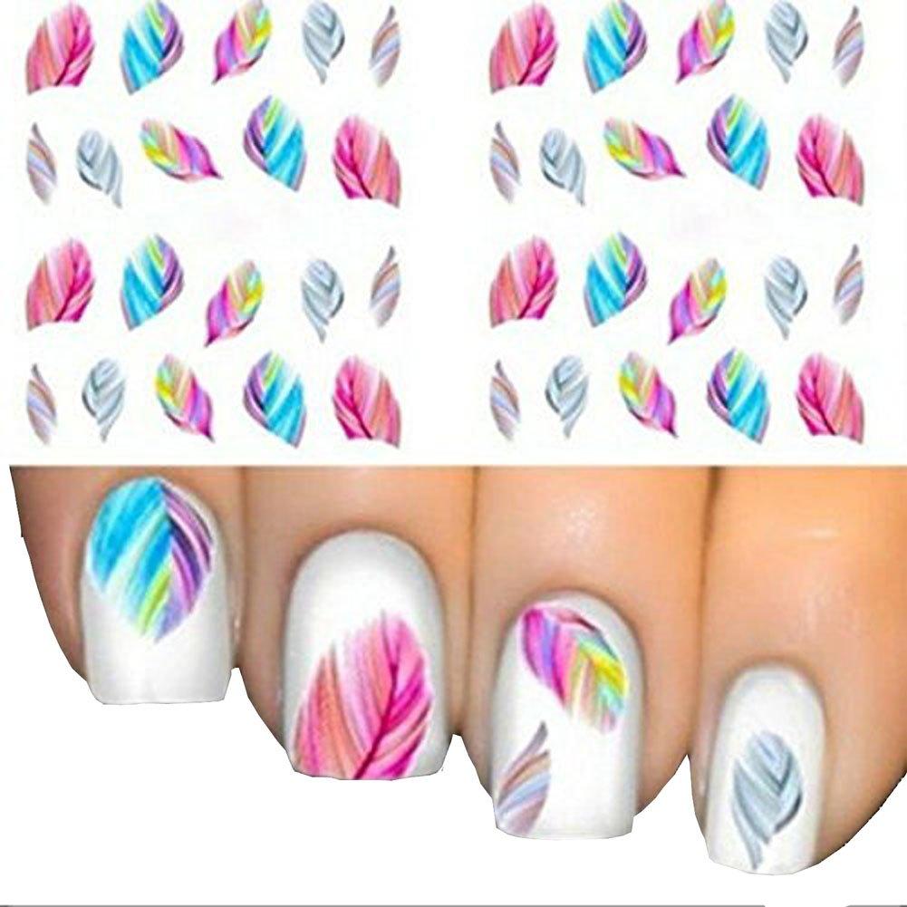 Pegatinas para uñas de plumas