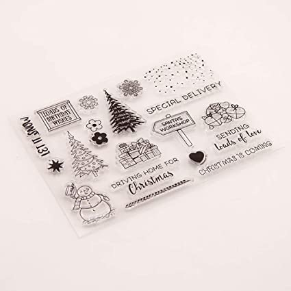 ceng-AIO Bunny Flower Seal Stamp with Cutting Dies Stencil Set DIY Scrapbooking Embossing