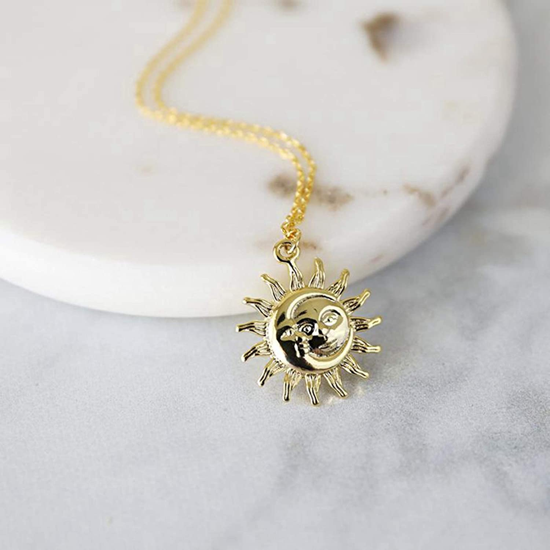 Golden Face Necklace