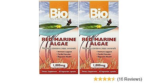Bio Nutrition Red Marine Algae Vegi-Caps, 60 Count, Pack of 2