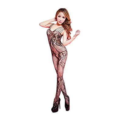 fa054aabb7 OnMeFocus Women s Nylon Bodystocking Dress Lingerie (WWKL-047