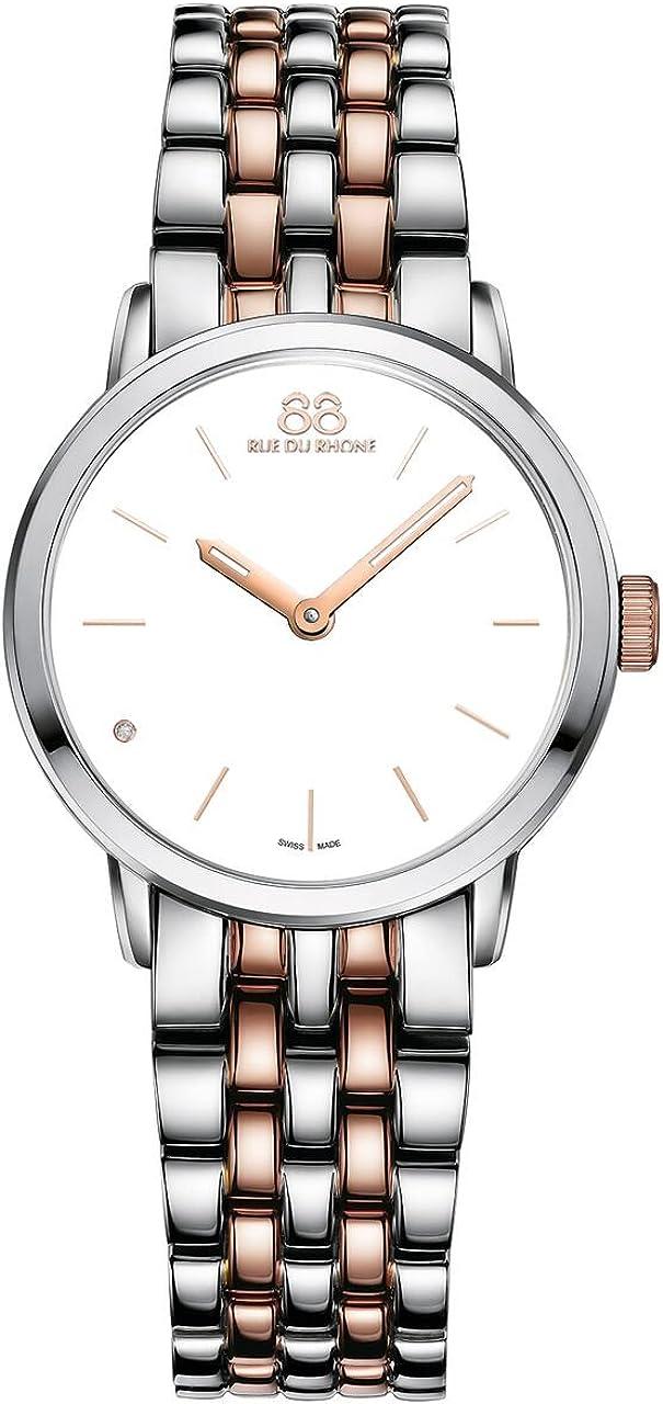 88Rue Du Rhone Doble 8Origen de cuarzo Collection Reloj de pulsera de mujer 87wa172905