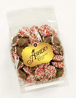 product image for Asher's Chocolates, Sprinkled and Chocolate Covered Nonpareils, Small Batches of Kosher Chocolate, Family Owned Since 1892 (4 ounce, Milk Chocolate)