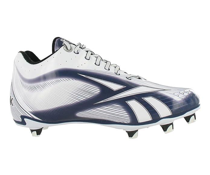 Amazoncom  Reebok NFL Burner Speed LT 58 SD4 Mens Football Shoes Size  US 15 Regular Width Color WhiteSilverNavy  Shoes