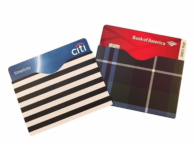 ... tarjeta de crédito Fraude y garantía de reemplazo de por vida Robo de identidad.. Cada Set Contiene 8 - RFID bloqueo mangas.: Elk & Bear: Amazon.es: ...