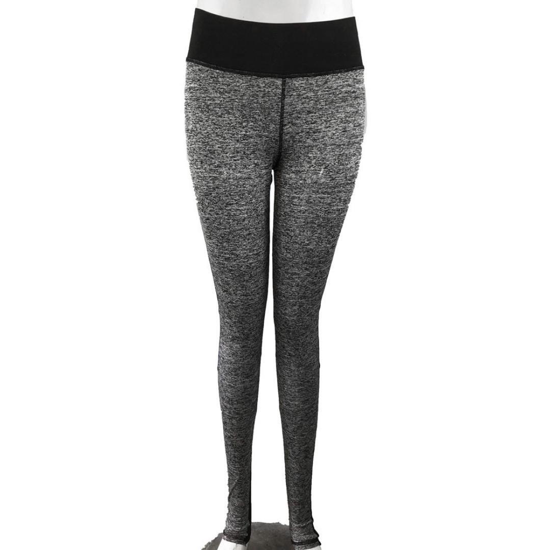 e37d6d30dc3a6 Amazon.com: Minisoya Women Exercise Leggings Mesh Splicing Running Yoga  Sports Pants Fitness Gym Training Skinny Trouser Tights: Clothing