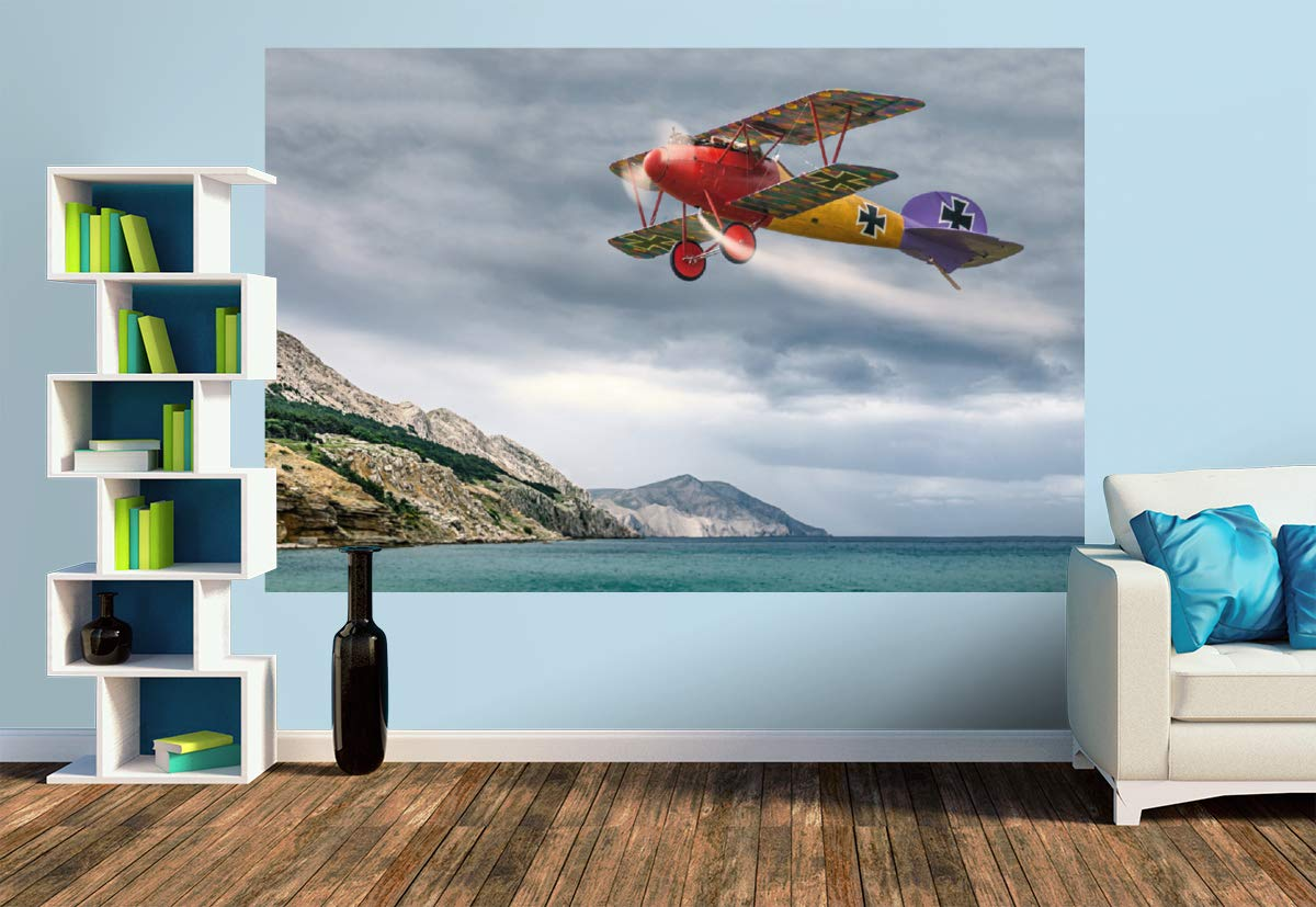 Size M   279 x 186 cm Model Aircraft in Action, Size M   279 x 186 cm