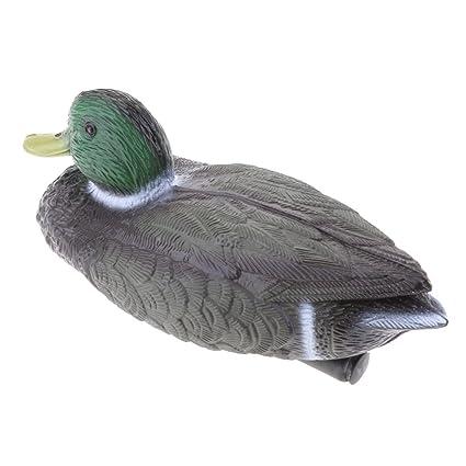 Amazon.com : MagiDeal Plastic Mallard Duck Decoy Floating Drake Duck ...