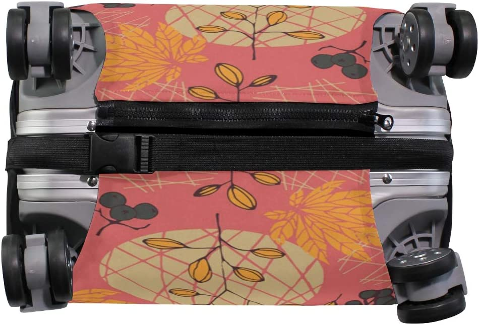 OREZI Luggage Protector,Pumpkins Autumn Elastic Travel Luggage Suitcase Cover,Washable and Durable Anti-Scratch Case Protective Cover for 18-32 Inches