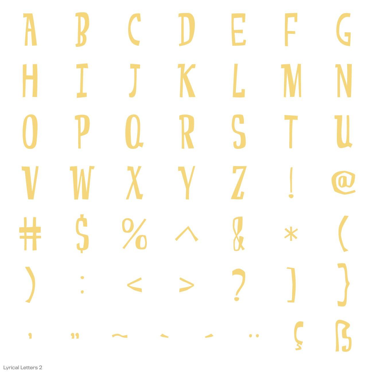 Cricut Lyrical Letters 2 Cartridge by Cricut (Image #11)