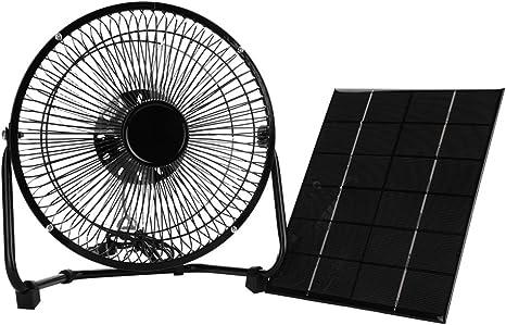 Panel Solar Ventilador,Powered Fan 5.2W 6V Portátil Mini USB ...